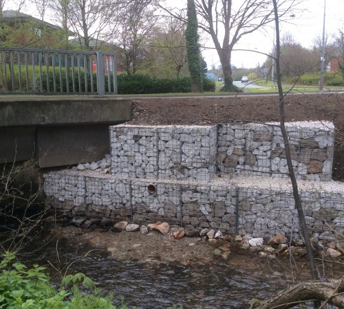 Gabion basket repair